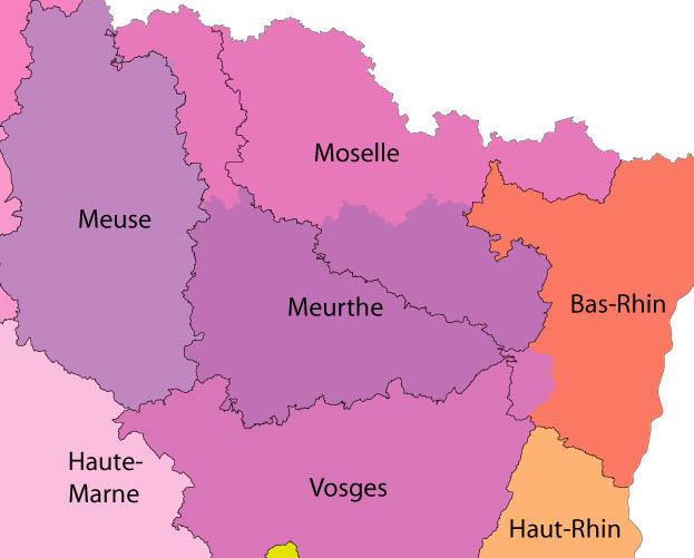 Carte Alsace Departement.Le Splaf Modifications De Limites En Alsace Lorraine