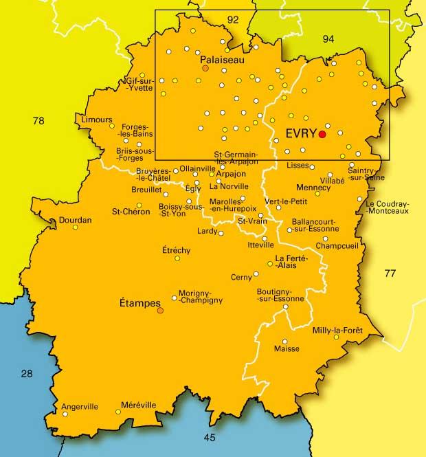 Carte Ile De France Avec Ville