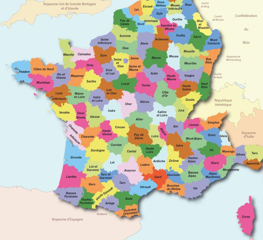 Le SPLAF - Carte de la France ...