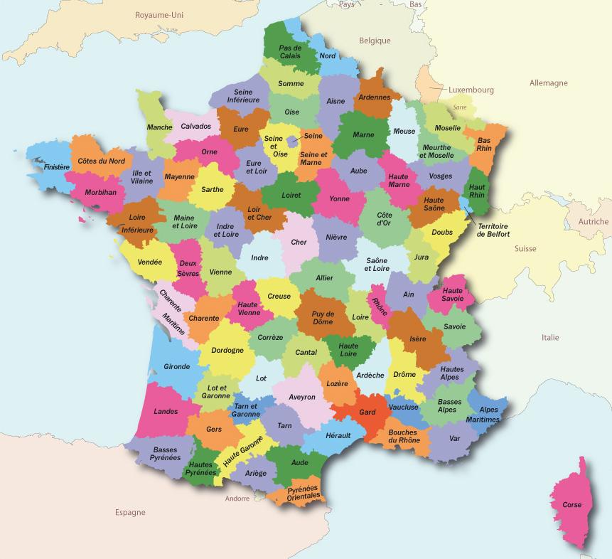 alpes maritimes carte de france - Image