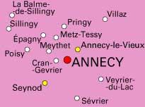 carte annecy et ses alentours Le SPLAF   Carte de la Haute Savoie (environs d'Annecy)