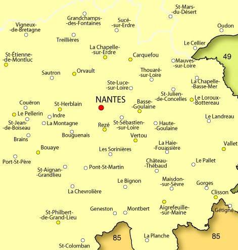 carte de la loire atlantique