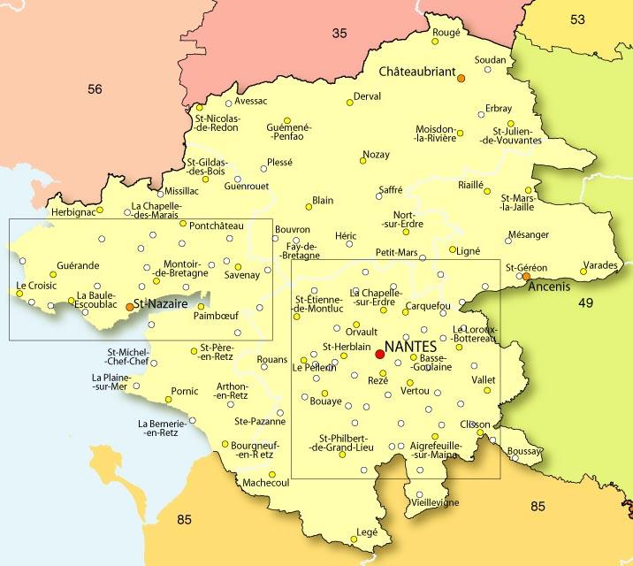 Carte Loire Atlantique.Le Splaf Loire Atlantique